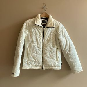 Abercrombie and Fitch white puffer coat SIZE S